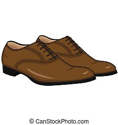 Illustration of Isolated Men Shoes