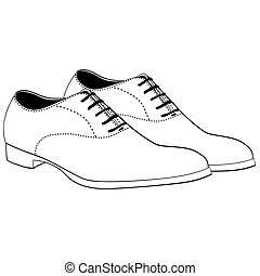 Illustration of Isolated Men Shoes. Vector EPS 8.