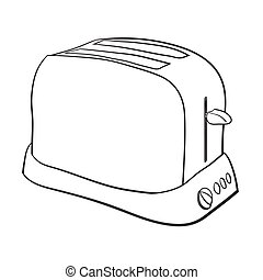 Illustration of Isolated Cartoon Toaster