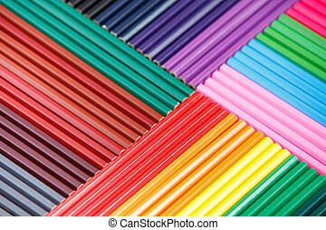 Background of colored pencils for creativity closeup....
