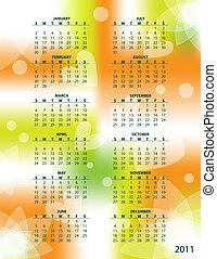 Colorful 2011 vector calendar