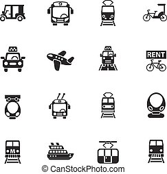 public transport icon set - public transport web icons for...