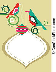Christmas birds frame