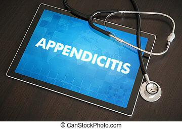 (gastrointestinal, conceito, tabuleta, médico, doença,...