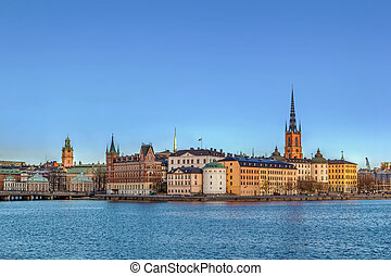 View of Riddarholmen, Stockholm - view of Riddarholmen from...