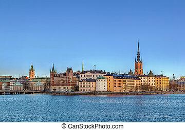 View of Riddarholmen, Stockholm - view of Riddarholmen from...