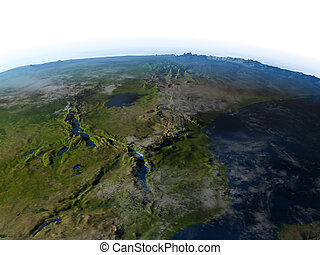 Great lakes of Africa on planet Earth - Great lakes of...