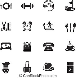 hotel service icon set - hotel service web icons for user...