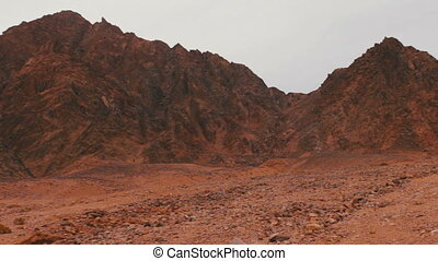 Red desert landscape of Sinai Mountains