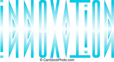 Abstract logo from the word innovation in a direct and mirrored form