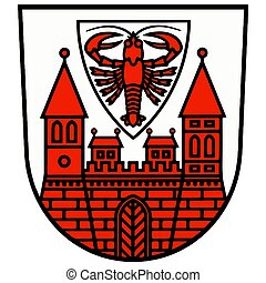 Coat of Arms of Cottbus, Germany. Vector Format.