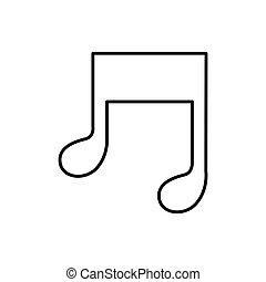 figure music sign icon
