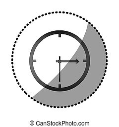 grayscale wall clock icon, vector illustraction design image