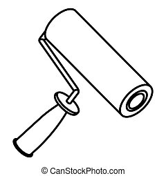 figure paint roller icon