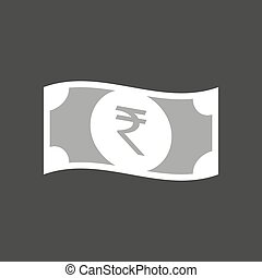 illustration of a rupee bank note - Isolated vector...