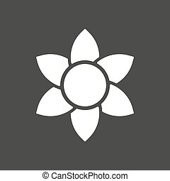 Isolated vector illustration of  a lotus flower