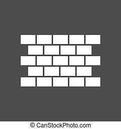 Isolated vector illustration of  a brick wall