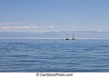 view on the lake constance in germany