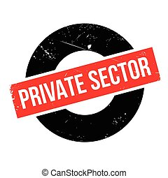 Private Sector rubber stamp. Grunge design with dust...