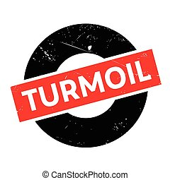 Turmoil rubber stamp. Grunge design with dust scratches....