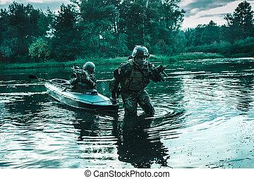 twilight covert operation - Covert landing. Pair of armed...