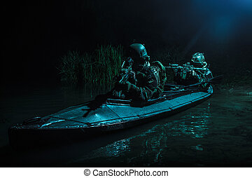 secret mission in the dead of night - Two special forces...