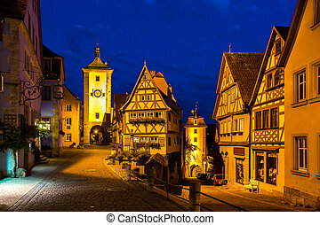 Rothenburg ob der Tauber Night - Rothenburg ob der Tauber...