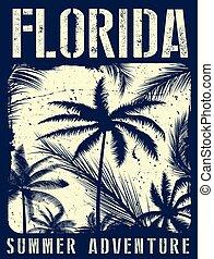 Florida summer tee graphic design
