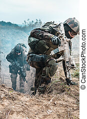 Marine Infantry Parachute Regiment - Two french paratroopers...