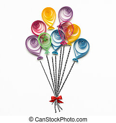 Happy Birthday. - Creative concept photo of quilling...
