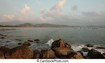 Morning Coastline Scene Vietnam - A morning scene over the...