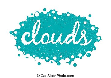 White clouds text background, vector eps 10