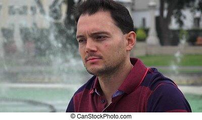 Italian Man At Park