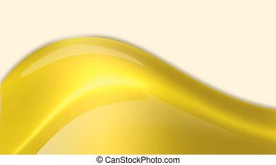 flowing golden drop
