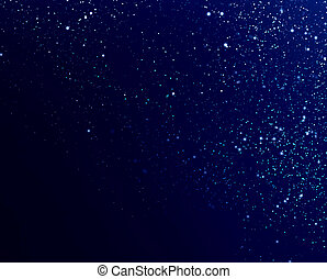 falling snow - Dark abstract background with falling snow