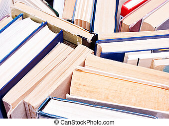 Many books in a chaotic manner