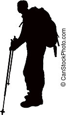 a mountaineer silhouette