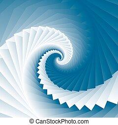 Vortex spiral ocean wave square geometry texture background