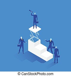 Leadership concept vector illustration in flat style