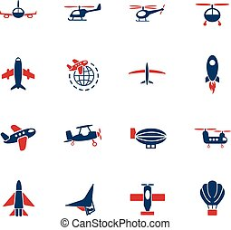 air transport icon set - air transport web icons for user...