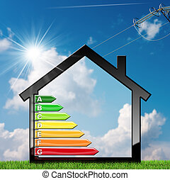 Energy Efficiency - Symbol in the Shape of House