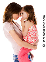 Family Secrets - Mother with daughter sharing secrets...