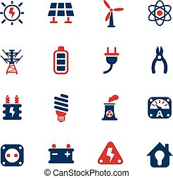 electricity icon set - electricity web icons for user...