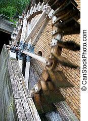 watermill in an old castle in Berlin Germany's capital