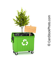 concept of environmental saving and the cleansing of the...
