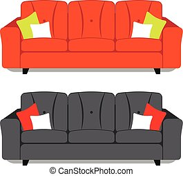 Impression - Illustration of two couch on white background