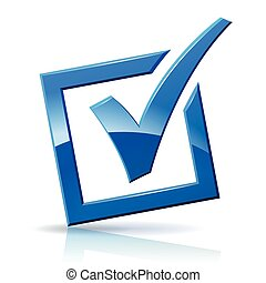 blue check box icon