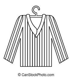 Pajama shirt icon, outline style - Pajama shirt icon....