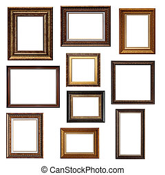 Collage of different frames isolated