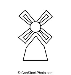 Thin line windmill icon